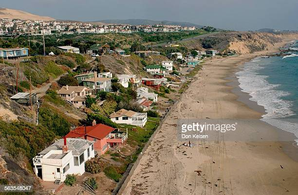Aerials of the Orange County Coast The cottages of Crystal Cove State Park located off Pacific Coast Higway between Corona del Mar and Laguna Beach