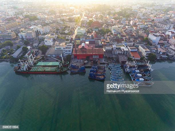 Aeriel View of Songkhla Old Town