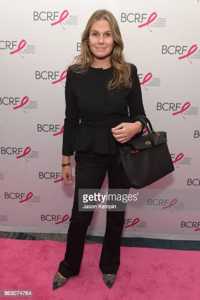 Aerin Lauder arrives at the Breast Cancer Research Foundation New York Symposium and Awards Luncheon at New York Hilton on October 19 2017 in New...