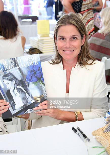 Aerin Lauder attends the East Hampton Library Authors Night at Gardiner Farm on August 9 2014 in East Hampton New York
