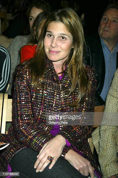 Aerin Lauder during Olympus Fashion Week Fall 2004TulehFront Row at Bryant Park in New York City New York United States