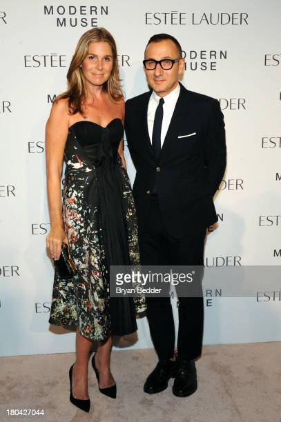 Aerin Lauder Style and Image Director of Estee Lauder and Founder and Creative Director of AERIN and designer Gilles Mendel attend the Estee Lauder...