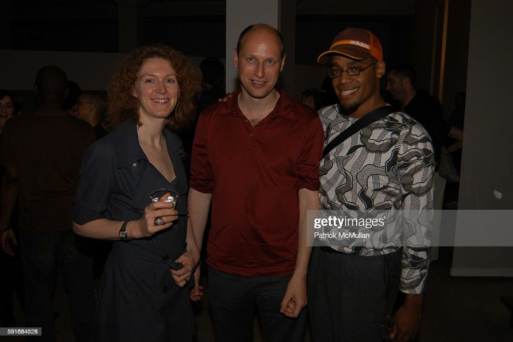Aernout Mik and Christian Hayes attend New Museum Hosts Opening Reception for Aernout Mik's Refraction Rhizome Artbase 101 at New Museum Of...