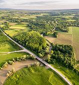 Aero photo of Road Bridge Across The River