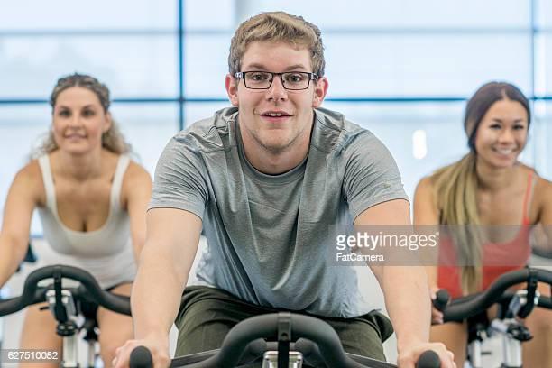 Aerobic Cycling Class