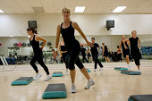 Aerobics class workout