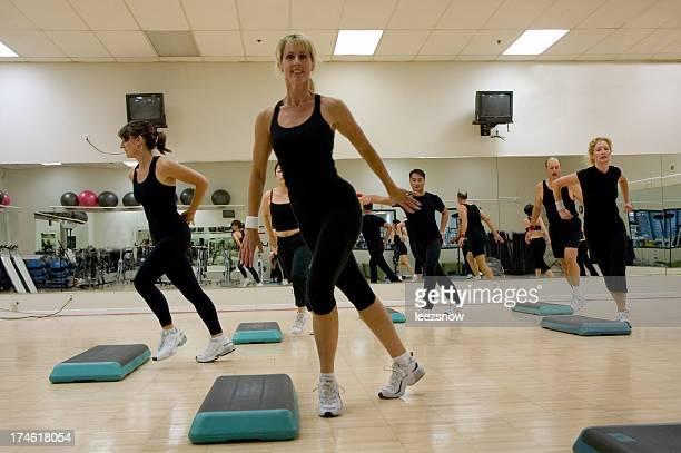 Lezione di aerobica allenamento