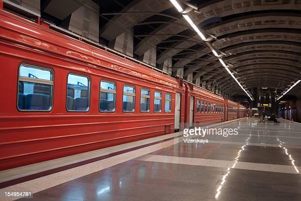Aeroexpress station and train