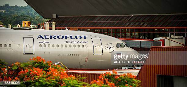 Aeroflot flight 150 aircraft arrives at the terminal of the Jose Marti airport in Havana on July 11 2013 Cuban leader Raul Castro on Sunday said...