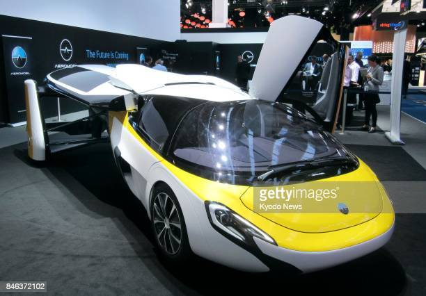 AeroMobil unveils its Flying Car at the international motor show in Frankfurt Germany on Sept 12 2017 The Slovakian startup company aims to launch...