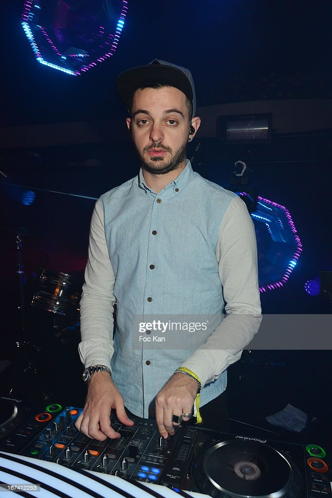 DJ Aeroplane performs during the Villa Schweppes Launch Party For Cannes Film Festival 2013 At Salle Wagram on April 24, 2013 in Paris, France.