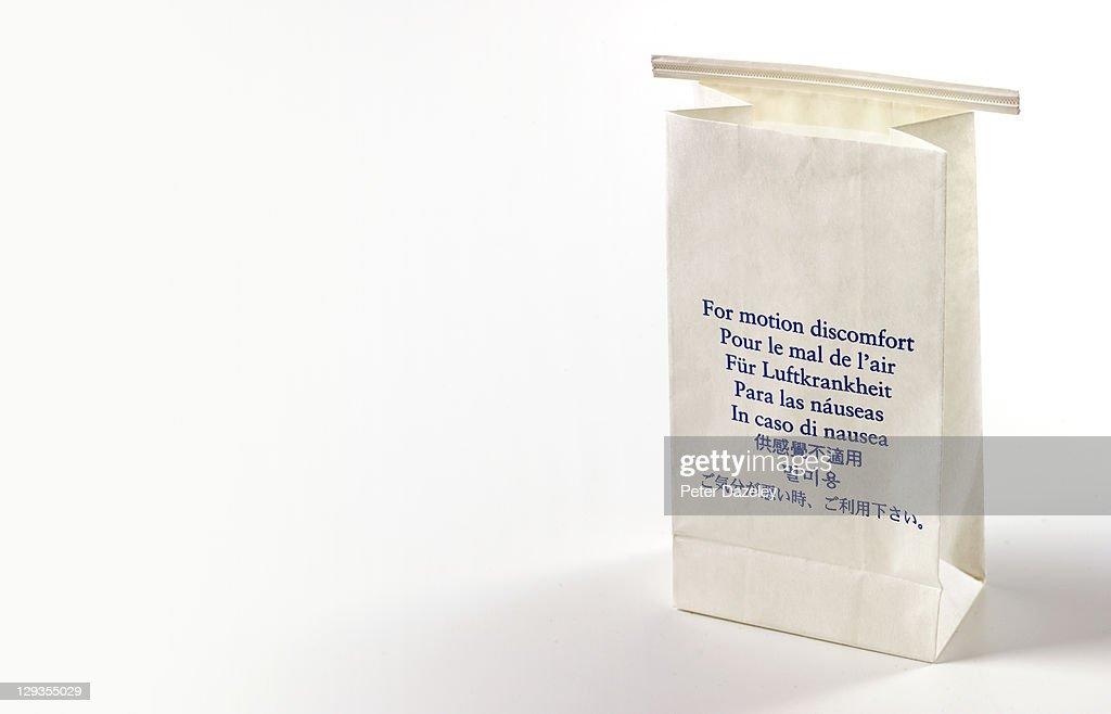 Aeroplane sick bag