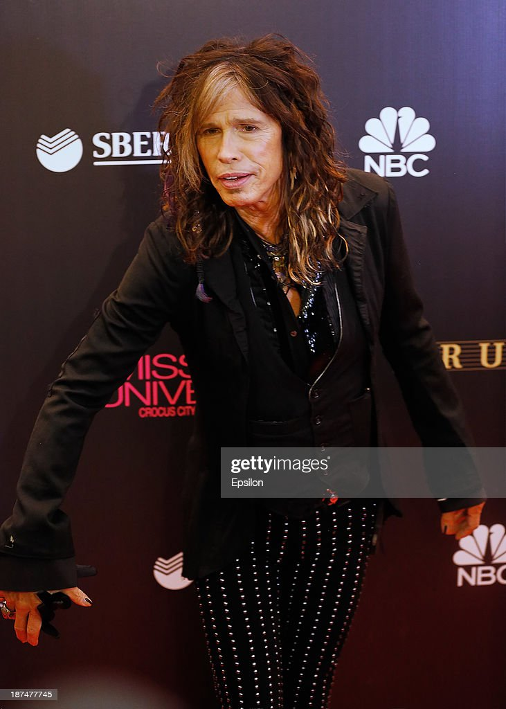 Aerosmith frontman Steven Tylor attends final of the competition Miss Universe 2013 in Crocus City Hall in Moscow on November 9, 2013.