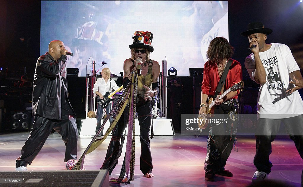 Aerosmith Kid Rock and Run DMC at the PNC Bank Art Center in Holmdel New Jersey