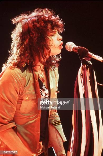 Aerosmith perform on stage New York April 1979 Steven Tyler