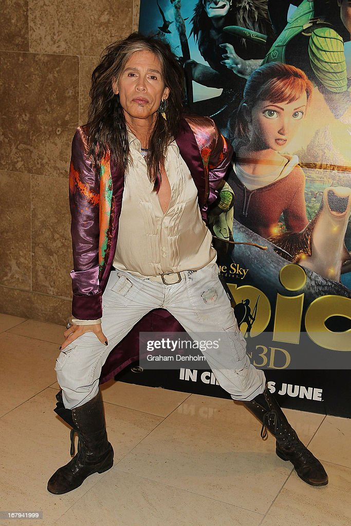 Aerosmith singer Steven Tyler poses during a photo call at Crown Towers on May 3, 2013 in Melbourne, Australia.