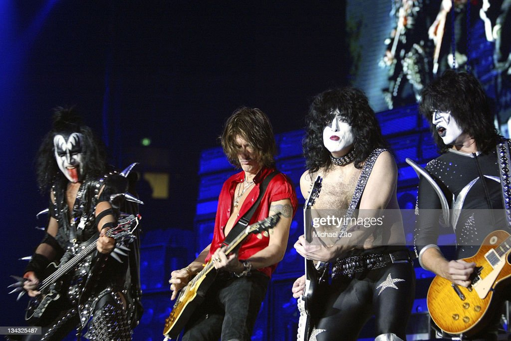 Aerosmith's Joe Perry and Kiss Perform at The Forum - December 18, 2003