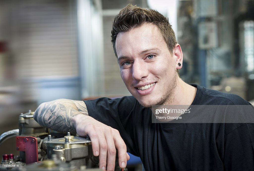 Aerospace technician portrait : Stock Photo