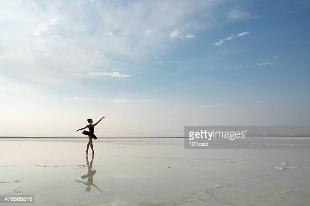 Aesthetic dancing on the beach