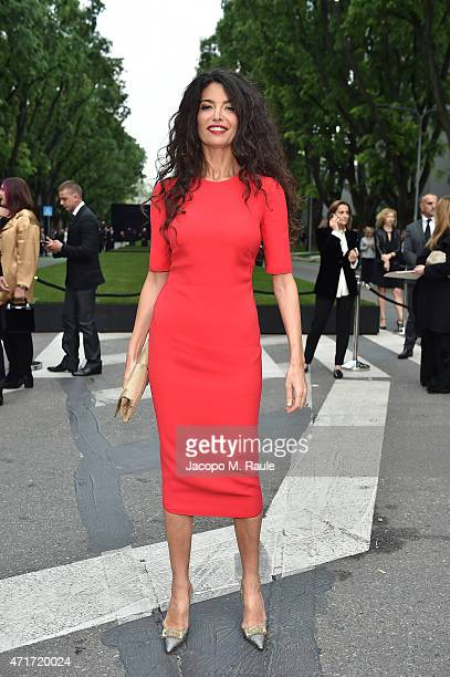 Afef Jnifen attends the Giorgio Armani 40th Anniversary Silos Opening And Cocktail Reception on April 30 2015 in Milan Italy