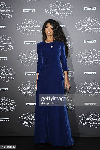 Afef Jnifen attends The Pirelli Calendar 50th Anniversary Red Carpet on November 21 2013 in Milan Italy