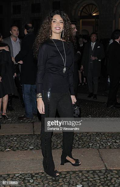 Afef Jnifen attends the Vogueit Milan Fashion Week Womenswear Autumn/Winter 2010 show on February 26 2010 in Milan Italy