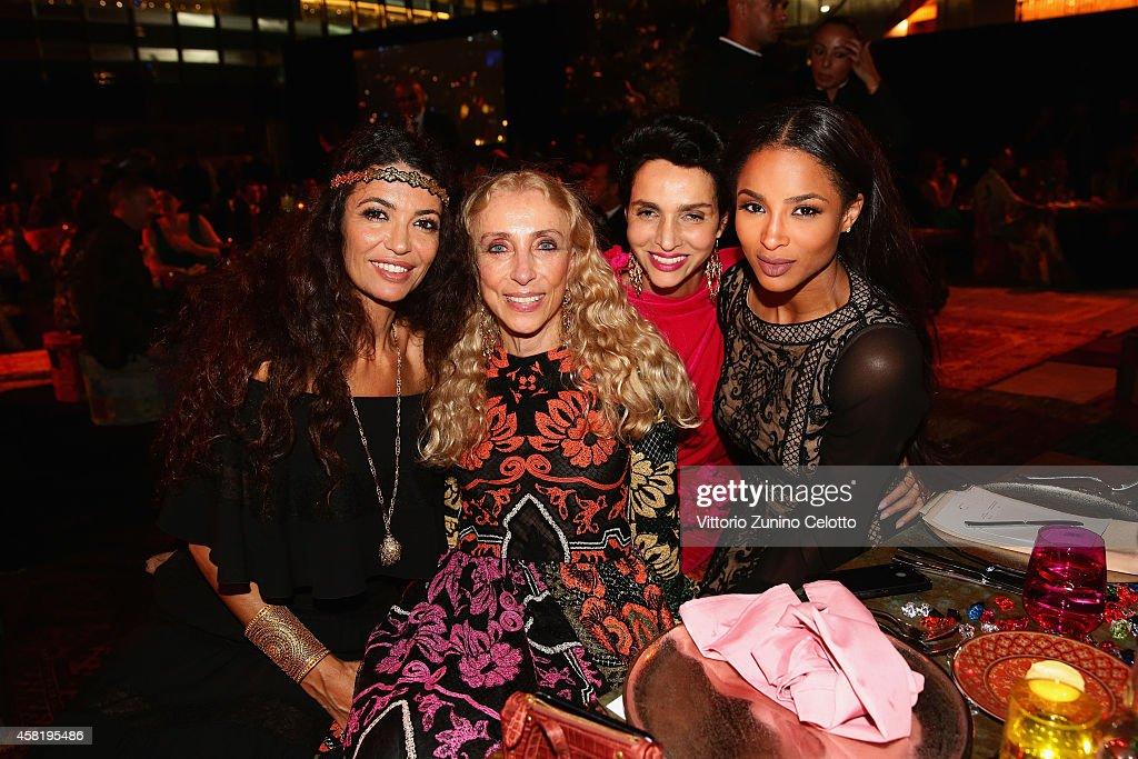 Afef Jnifen, Franca Sozzani, Farida Khelfa and Ciara attend the Gala Event during the Vogue Fashion Dubai Experience on October 31, 2014 in Dubai, United Arab Emirates.