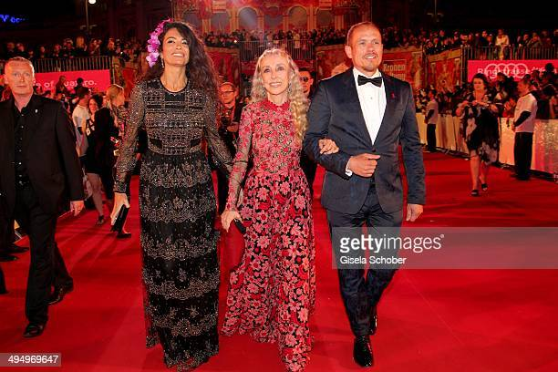 Afef Jnifen Franca Sozzani Gery Keszler attend the Life Ball 2014 at City Hall on May 31 2014 in Vienna Austria