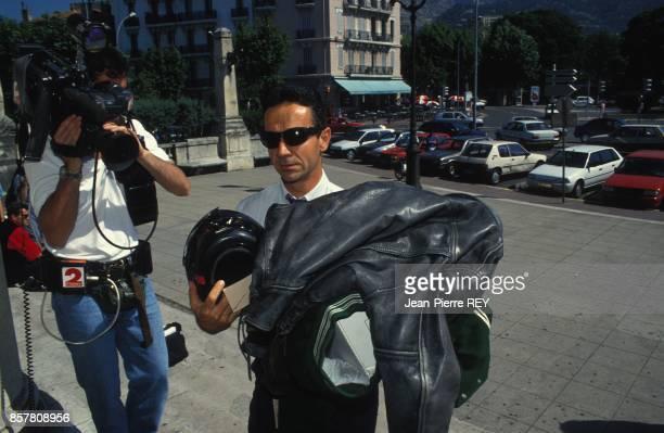 L'affaire Yann Piat arrivee des pieces a conviction au tribunal en juin 1994 a Toulon France