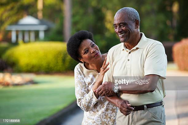 Affectionate African American couple