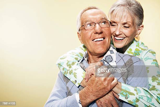 Affectionate Senior Couple Hugging