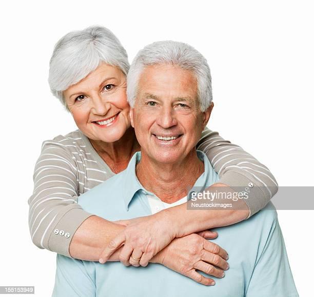 Zärtlich Alter paar-isoliert