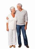 Affectionate Senior Couple - Isolated
