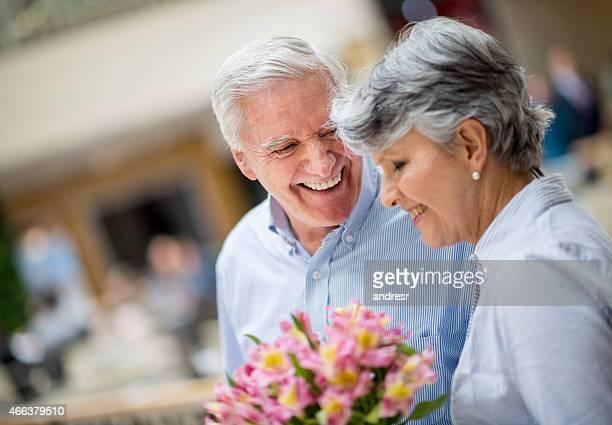 Zärtlich Alter Paar
