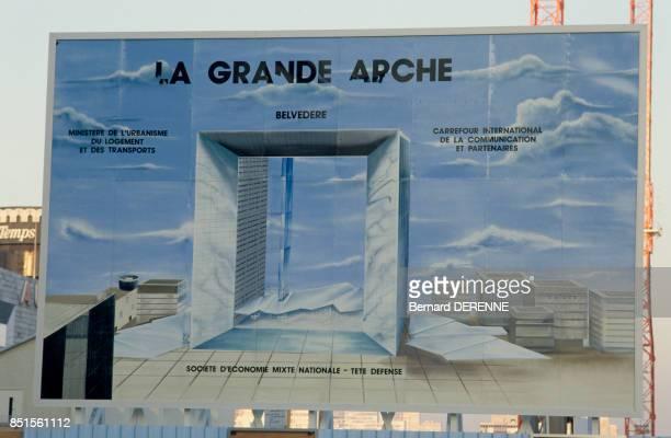 Affiche de la Grande Arche de la Défense le 13 février 1986 France