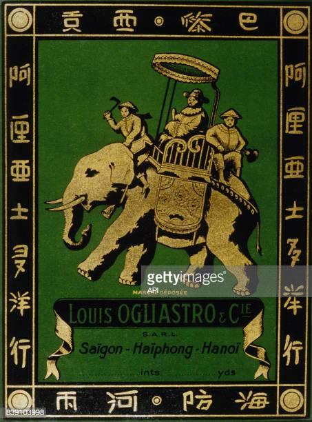 Affiche publicitaire de l'entreprise coloniale 'Louis Ogliastro Cie'