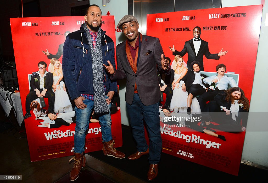 Affion Crockett And William Packer Attend The Wedding Ringer Atlanta Picture