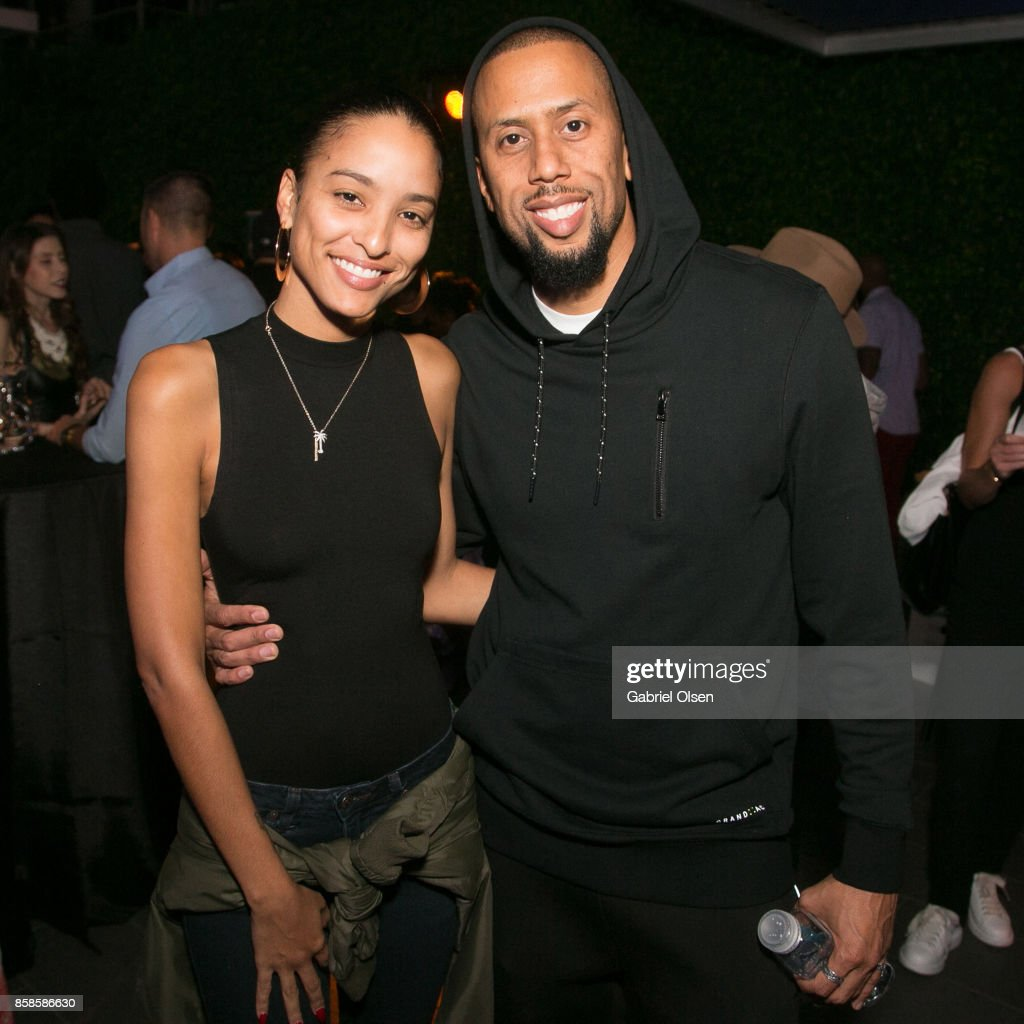 Affion Crockett (R) attends Russell Simmons' 60th Birthday Party at his Tantris Yoga Center on October 6, 2017 in West Hollywood, California.