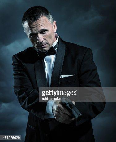 Affluent Bodyguard with Handgun