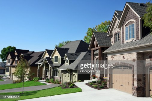 Affluent Suburban Street