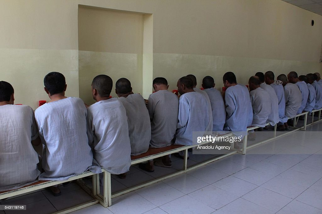 Afghan drug addicts have a meal in Jangalak hospital and shelter for drug addicts in Kabul, Afghanistan, on June 26, 2016. In December 1987 the UN general assembly decided to observe June 26 as the international day against drug abuse and illicit trafficking.