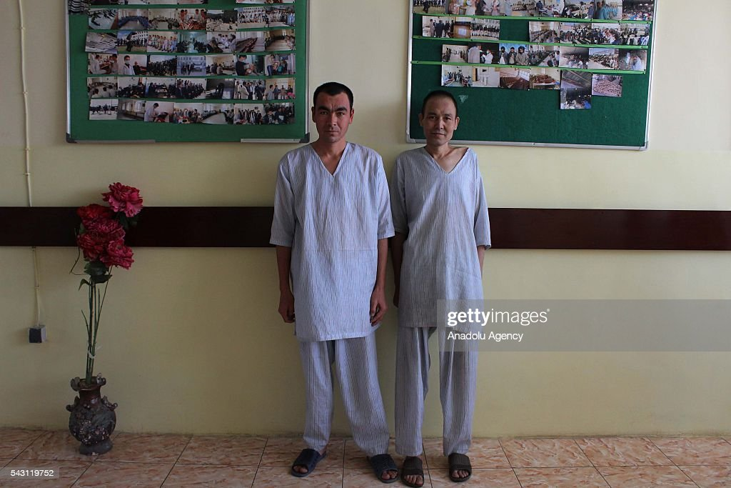 Afghan drug addicts pose for photograph in Jangalak hospital and shelter for drug addicts in Kabul, Afghanistan, on June 26, 2016. In December 1987 the UN general assembly decided to observe June 26 as the international day against drug abuse and illicit trafficking.