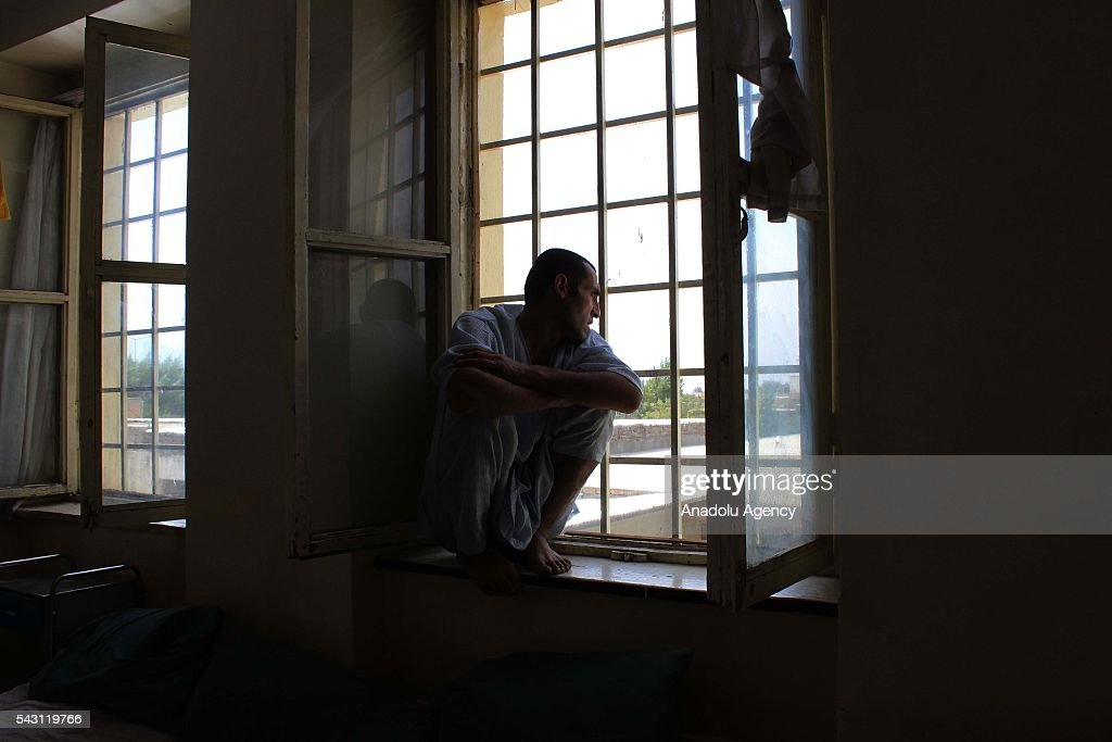 Afghan drug addicts seen at their beds meal in Jangalak hospital and shelter for drug addicts in Kabul, Afghanistan, on June 26, 2016. In December 1987 the UN general assembly decided to observe June 26 as the international day against drug abuse and illicit trafficking.