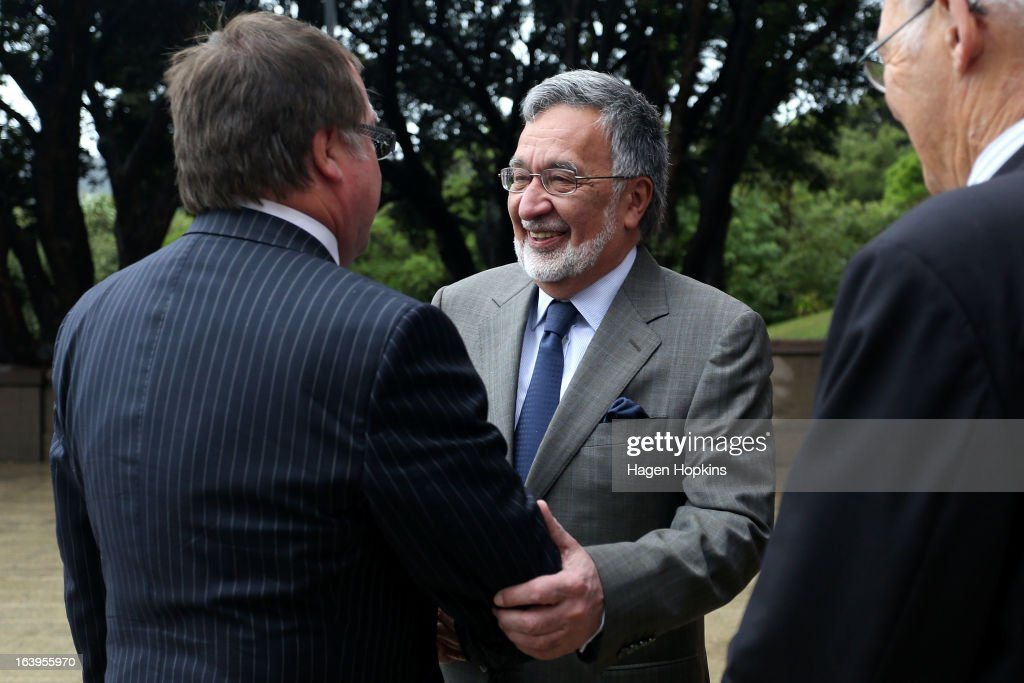 Afghan Foreign Minister Dr Zalmai Rassoul (R) and New Zealand Foreign Affairs Minister <a gi-track='captionPersonalityLinkClicked' href=/galleries/search?phrase=Murray+McCully&family=editorial&specificpeople=2182937 ng-click='$event.stopPropagation()'>Murray McCully</a> shake hands during a wreath-laying ceremony to acknowledge both Afghan and New Zealand losses in Afghanistan at the National War Memorial on March 19, 2013 in Wellington, New Zealand. Afghan Foreign Minister Dr Zalmai Rassoul is on the second day of a two day visit to New Zealand for bilateral talks.