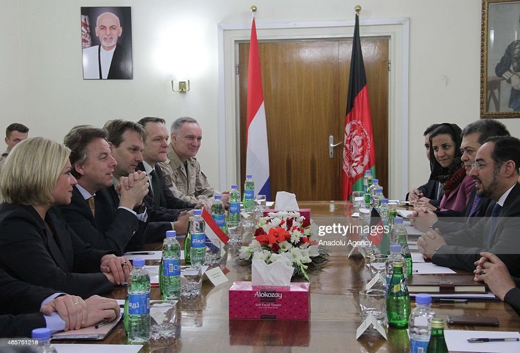 Dutch Foreign And Defence Ministers Visit Kabul