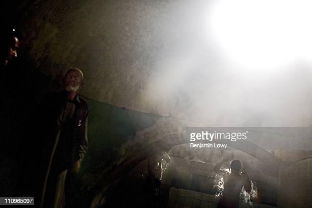 Afghan men take turns in communal baths on April 15 2007 in Kabul Afghanistan