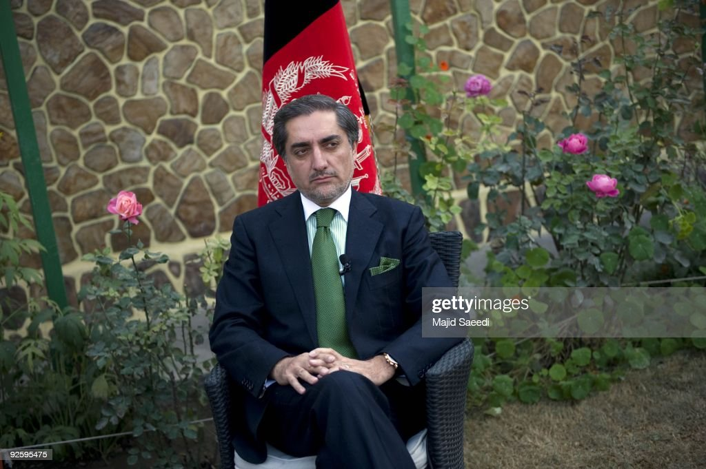 Afghan opposition candidate <a gi-track='captionPersonalityLinkClicked' href=/galleries/search?phrase=Abdullah+Abdullah&family=editorial&specificpeople=695346 ng-click='$event.stopPropagation()'>Abdullah Abdullah</a> attends a press conference on November 1, 2009 in Kabul, Afghanistan. Abdullah announced that he would pull out of this week's run-off presidential election in Afghanistan due to concerns over widespread fraud and abuse of power by the governmment.