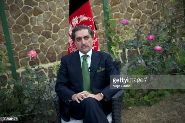 Afghan opposition candidate Abdullah Abdullah attends a press conference on November 1 2009 in Kabul Afghanistan Abdullah announced that he would...
