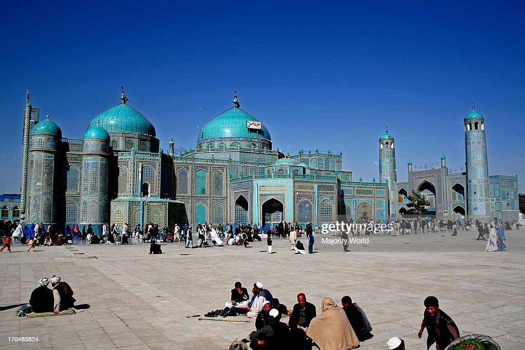 Afghan pilgrims celebrate the Persian New Year or Nowruz on March 21st at the Blue Mosque in central Mazar O E O Sharif in Balkh province Afghanistan...