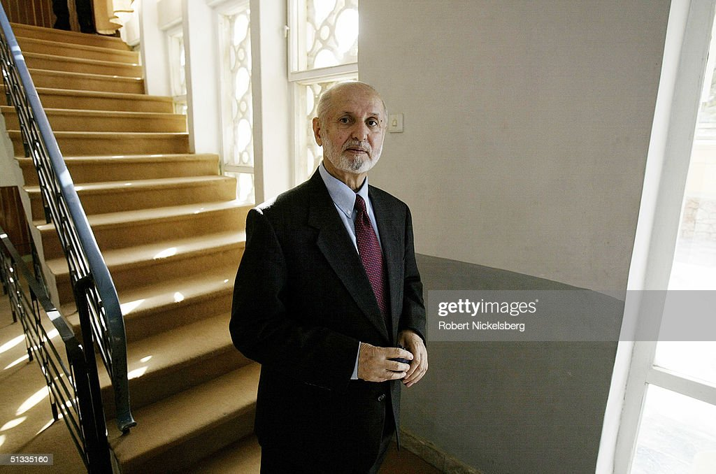 Afghan presidential candidate Dr Abdul Sattar Sirat 67 years poses in his Kabul residence September 5 2004 in Kabul Afghanistan Sirat is one of 18...